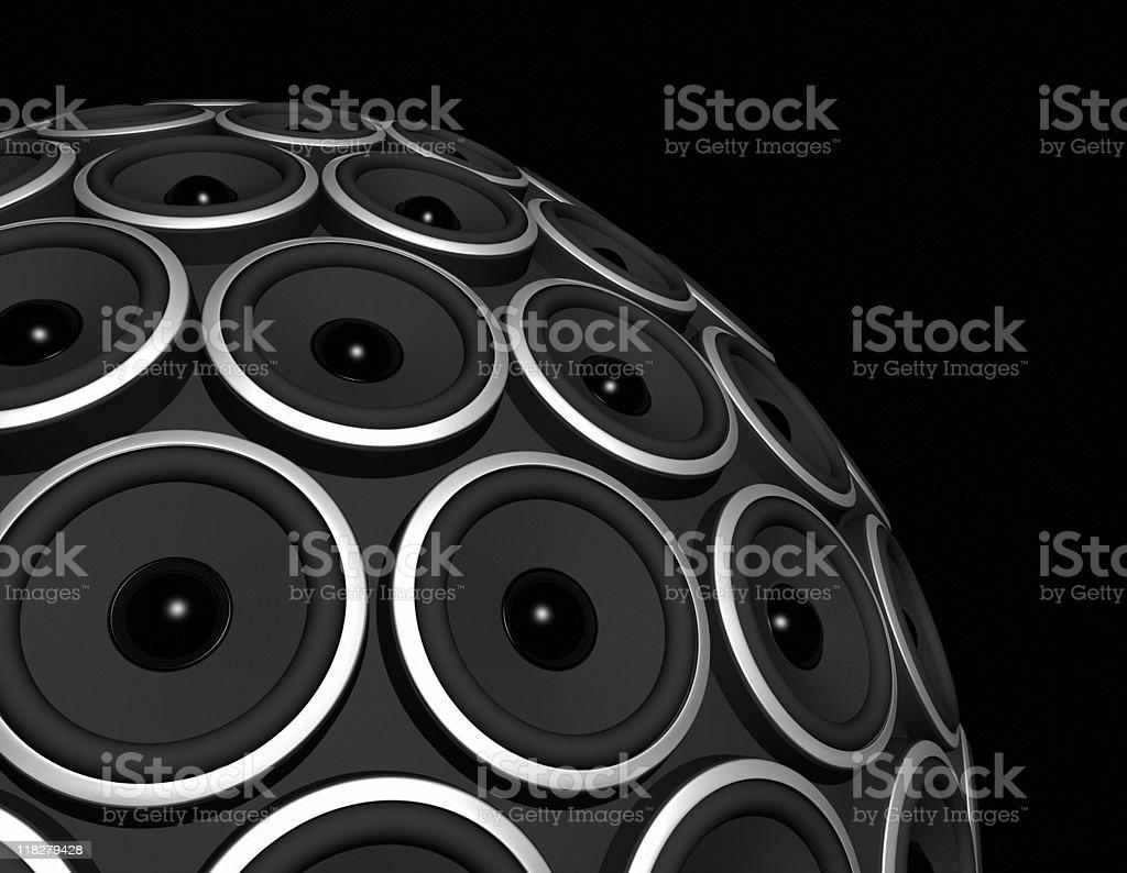 speakers sphere royalty-free stock photo