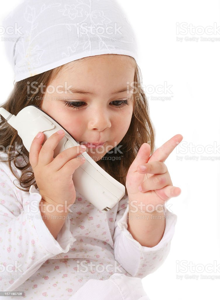 speaking by phone royalty-free stock photo
