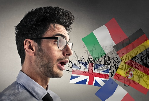 Speaking On Different Lenguages Stock Photo - Download Image Now