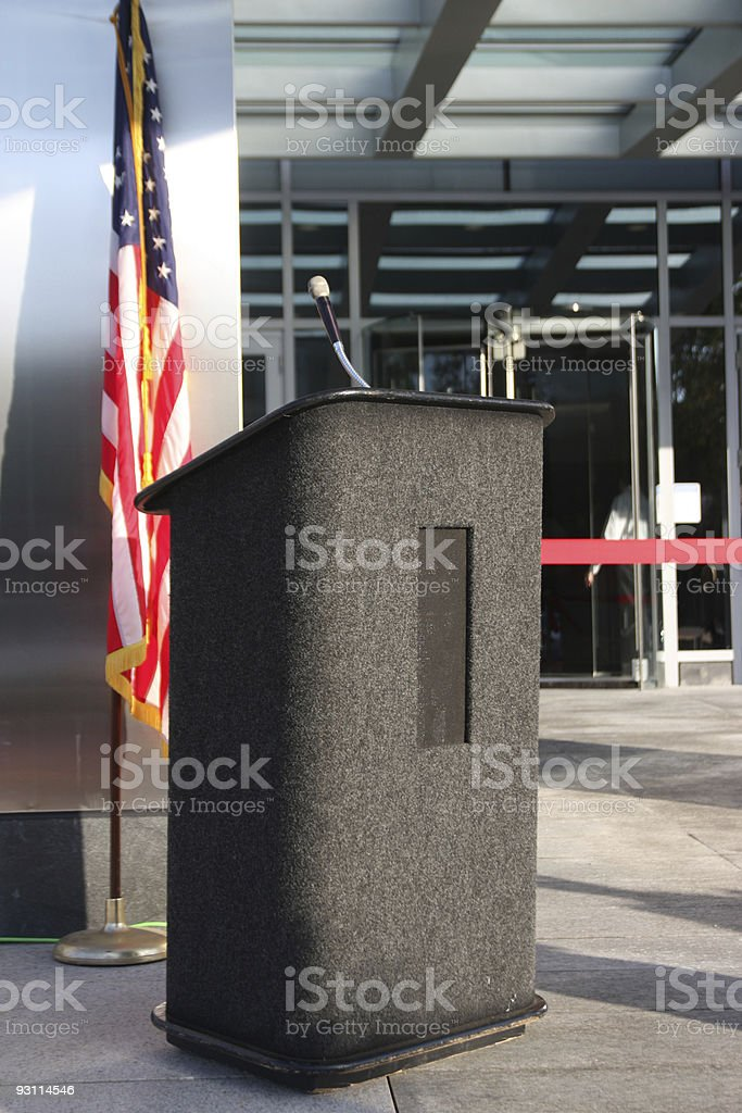Speaking podium royalty-free stock photo
