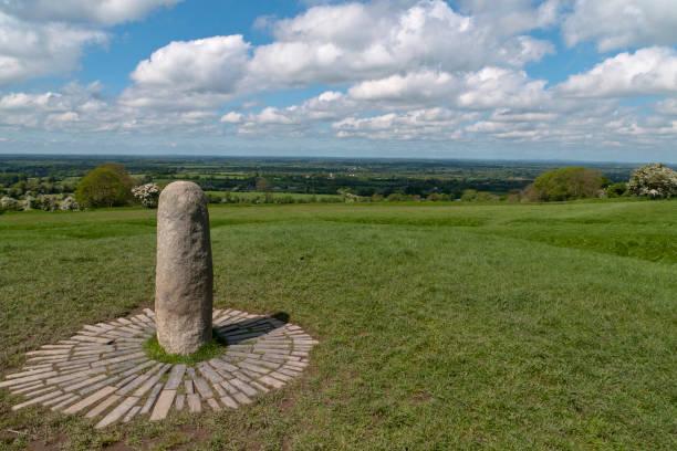Speaking Stone, Hill of Tara stock photo