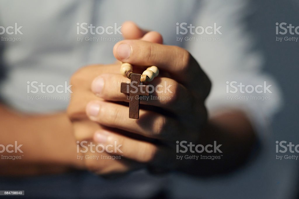 Speaking to a higher power stock photo