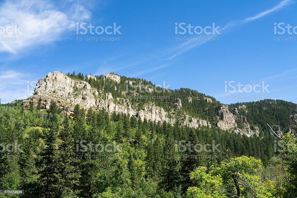 Spearfish Canyon in the Black Hills stock photo