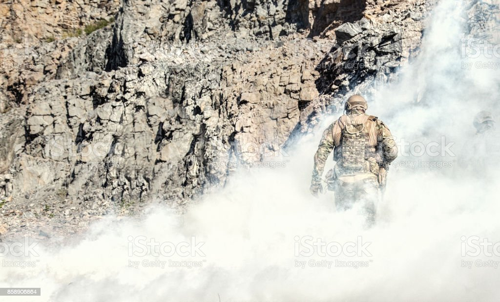 Spec ops in action stock photo