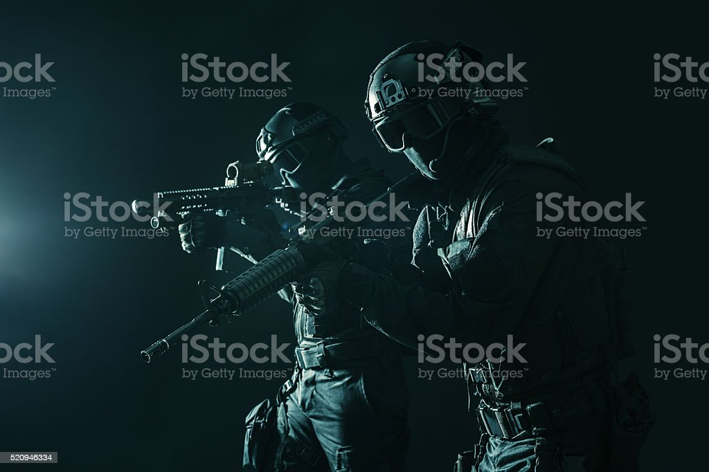 Spec ops police officersSWAT stock photo
