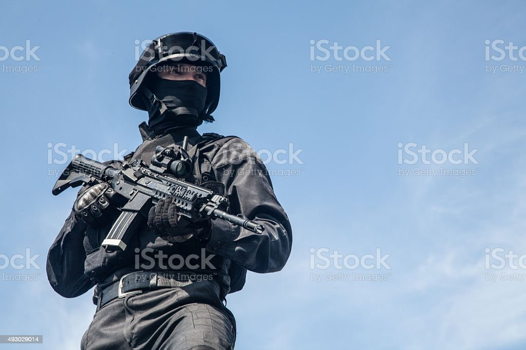 Spec ops police SWAT stock photo