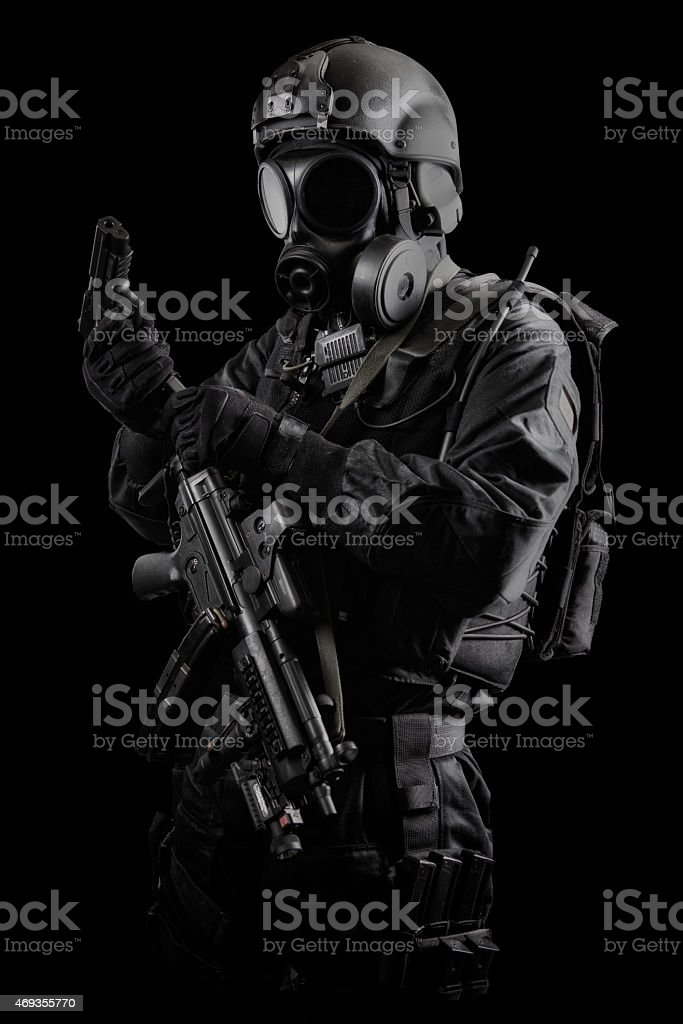 Special Air Service Hostage Rescue Team Solider stock photo