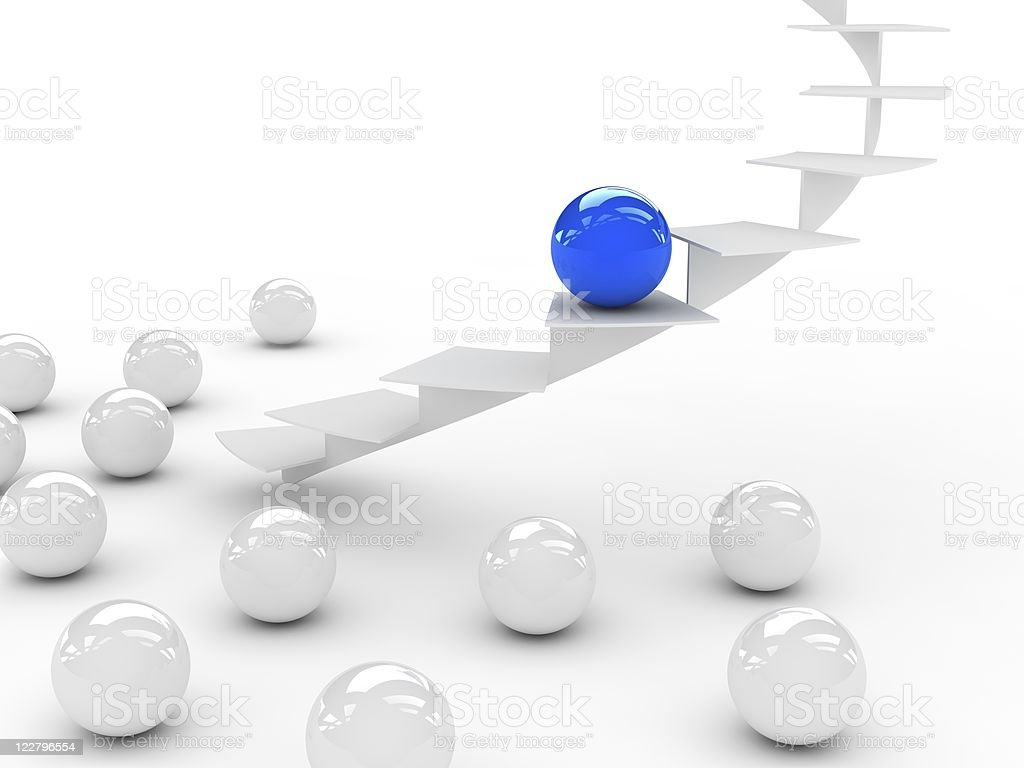 special blue sphere royalty-free stock photo