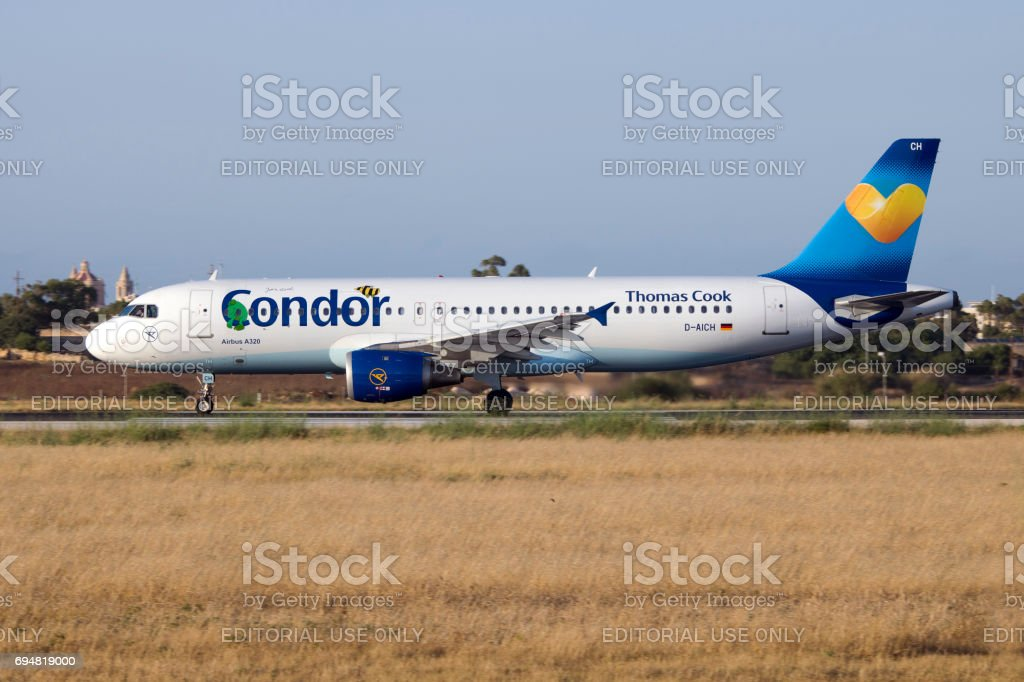 Special Color Scheme Condor A320 Stock Photo - Download Image Now