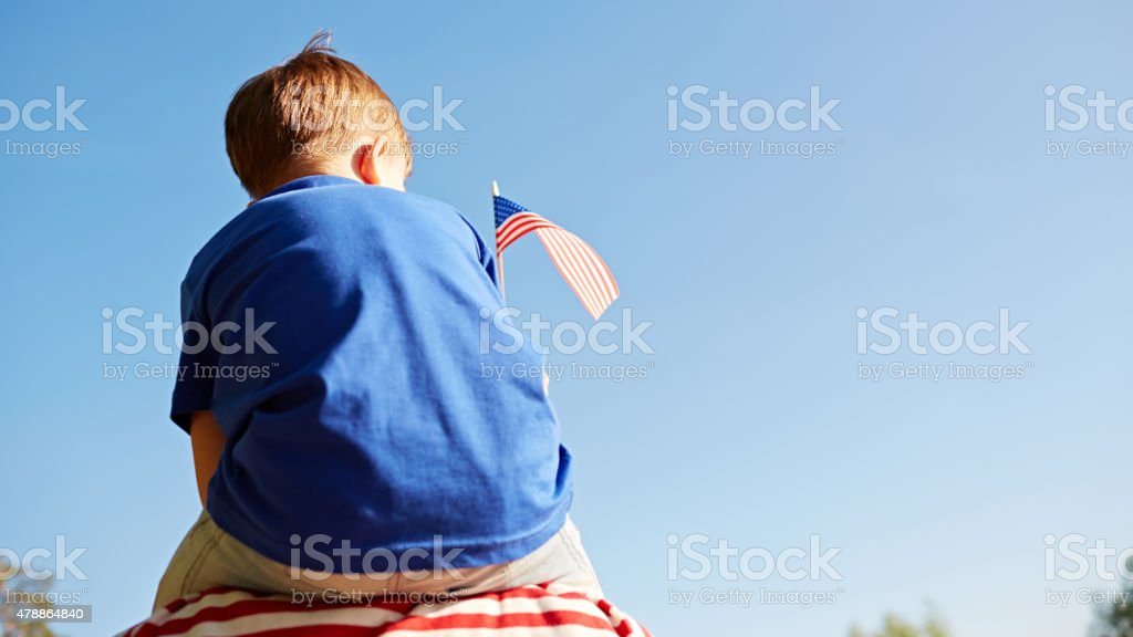 Special day for America stock photo