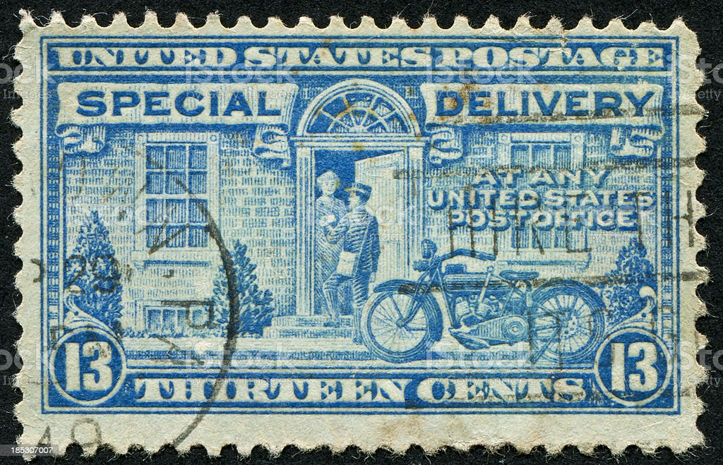 Special Delivery Stamp royalty-free stock photo