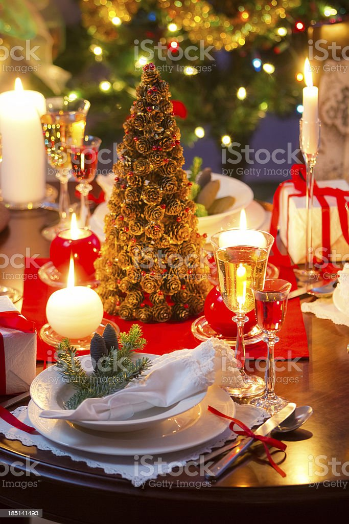Special dinner for Christmas Eve royalty-free stock photo