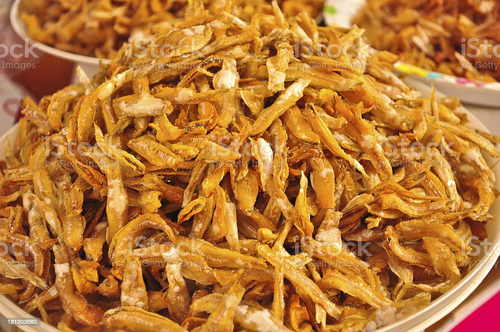 Special dried fish at Thailand market royalty-free stock photo