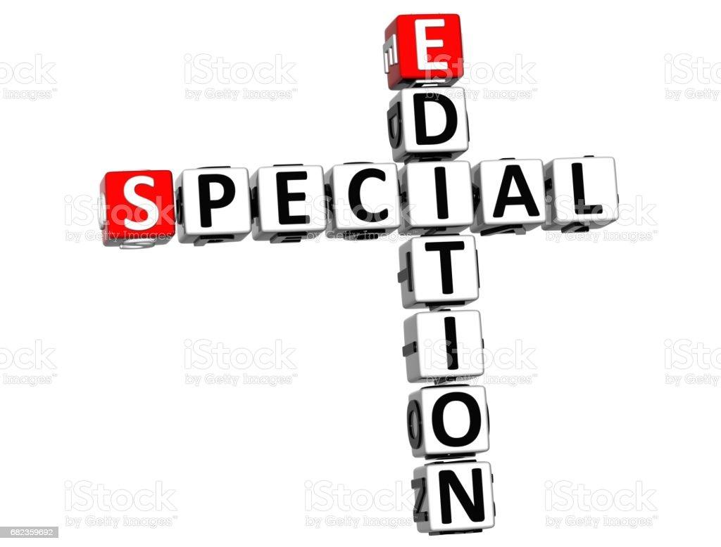 3D Special Edition Vip kruiswoordraadsel kubus woorden royalty free stockfoto