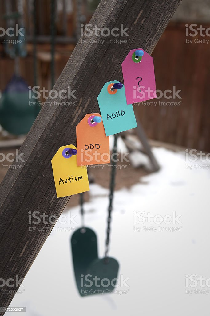 Special Education Labels stock photo