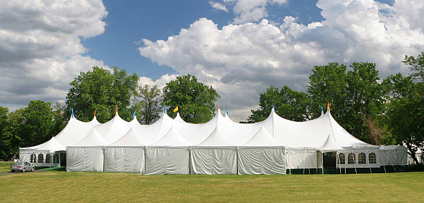 Special Event Large White Tent  entertainment tent stock pictures, royalty-free photos & images