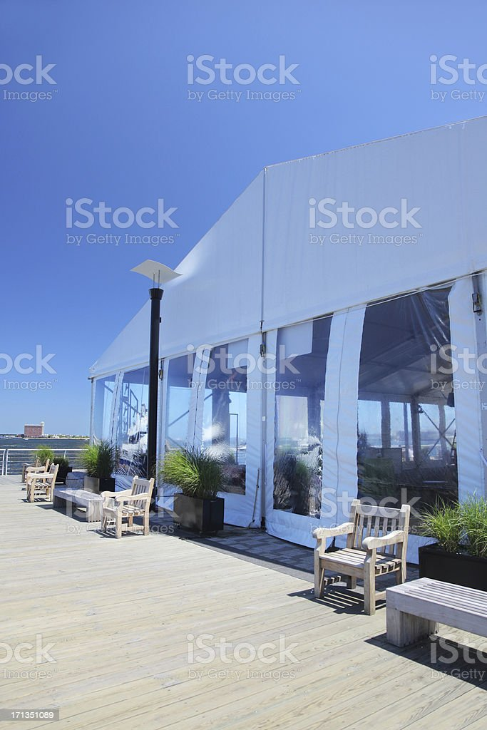 Special Event White Celebration Tent stock photo