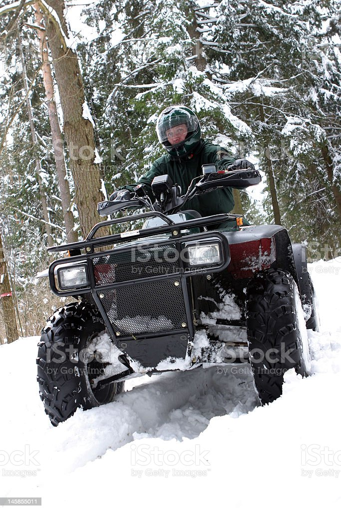 Special force man on quadbike. royalty-free stock photo