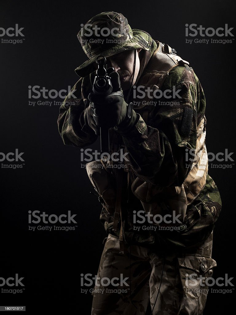 Special forces aiming at you royalty-free stock photo