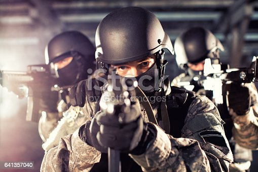istock Special forces in action 641357040
