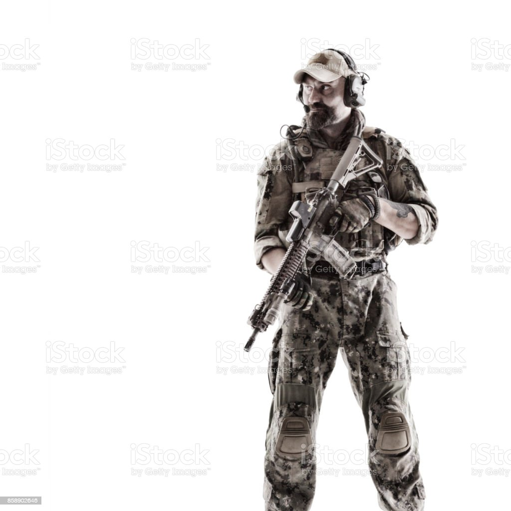 Special Forces Operator stock photo