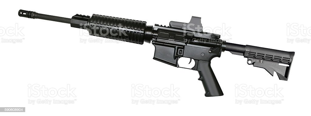 special forces rifle M4 isolated stock photo