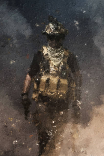 özel kuvvetler asker , askeri kavram stok fotoğrafı