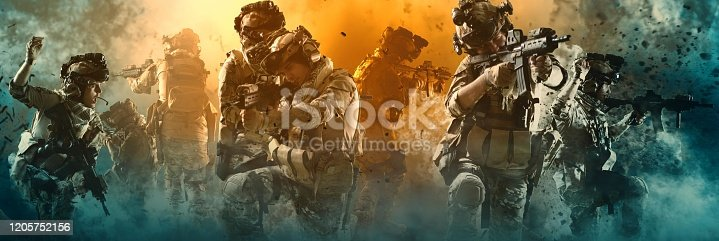 special forces soldier , military concept
