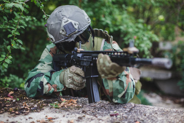 Special forces soldier stock photo