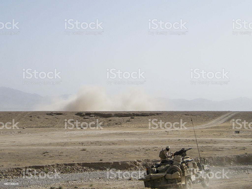 Special forces vehicle Afghanistan stock photo