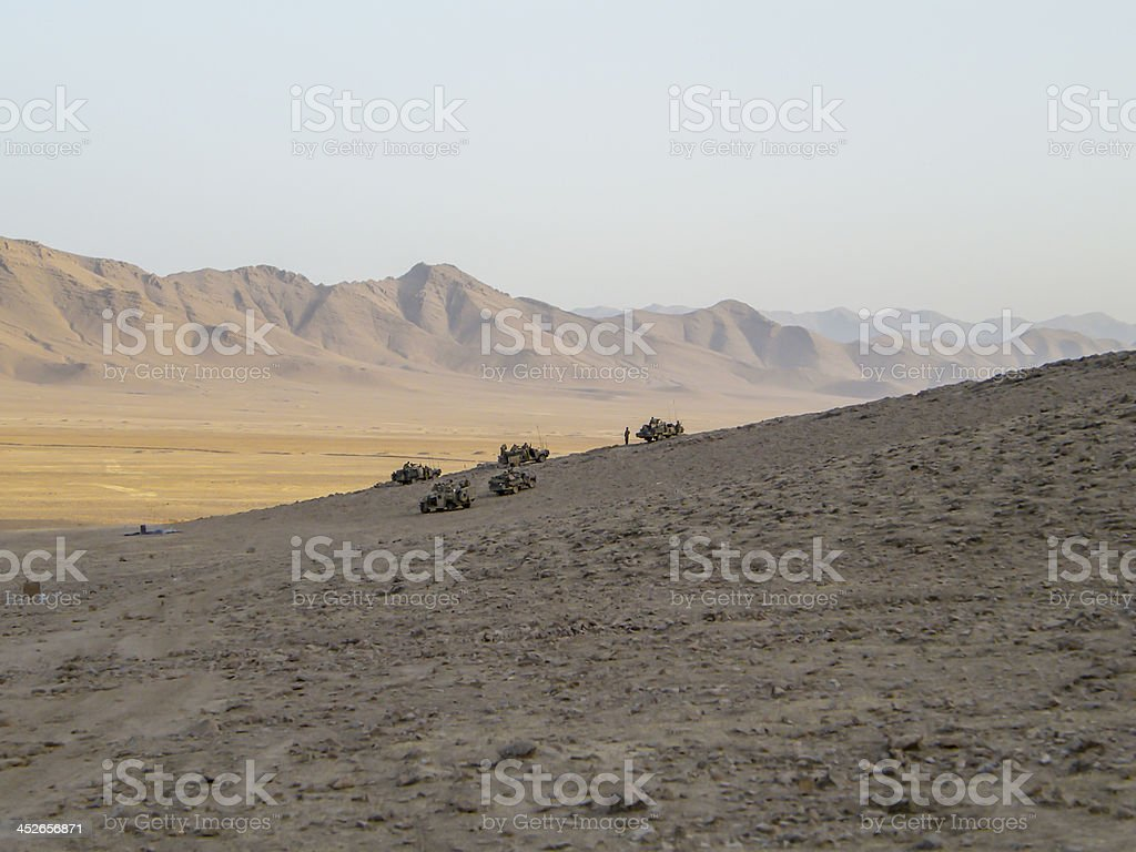 Special forces vehicles in Afghanistan stock photo