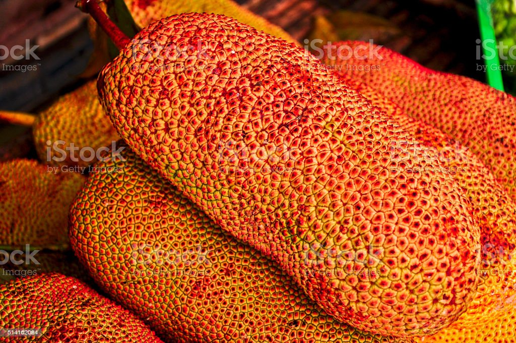 Special Jack fruit for sale at the street market, Thailand stock photo