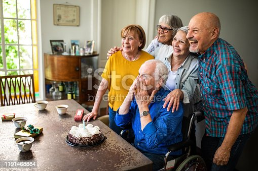 1196170672istockphoto Special moments between senior friends 1191468884