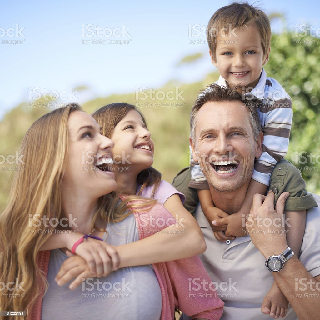 Special moments of bonding on holiday stock photo