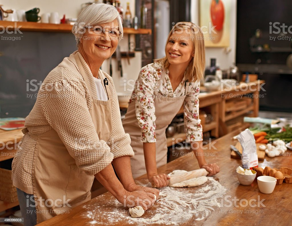 Special moments with Gran stock photo