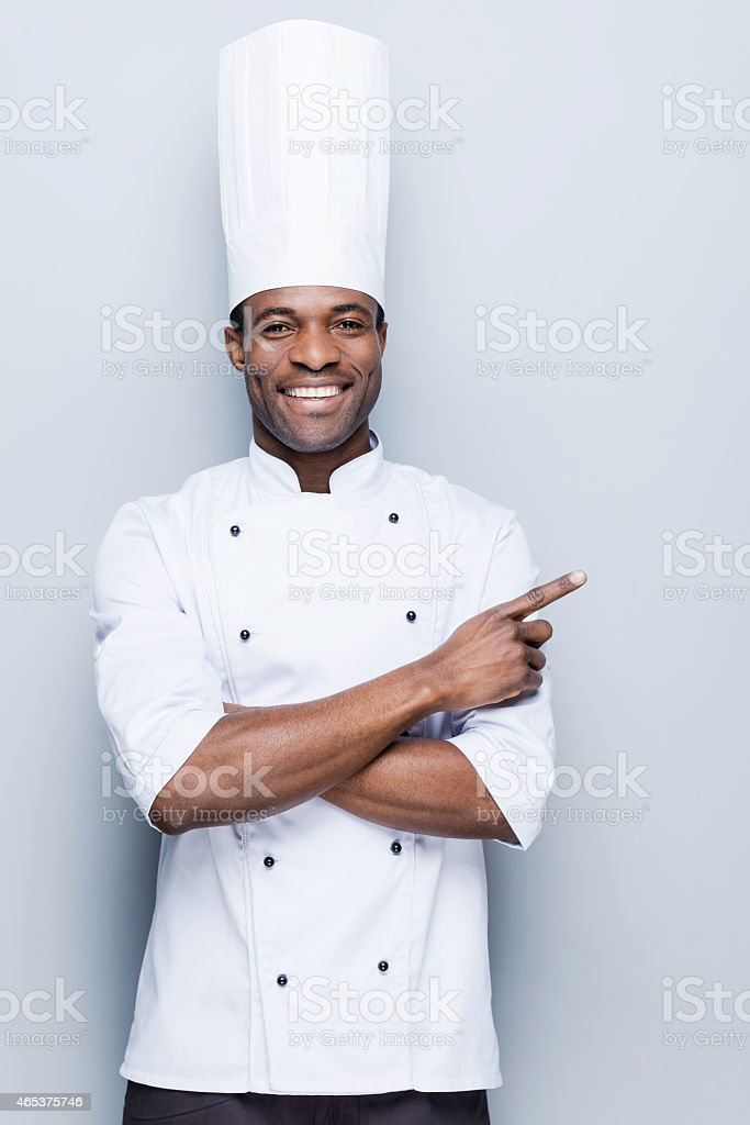 Special offer from chef. stock photo