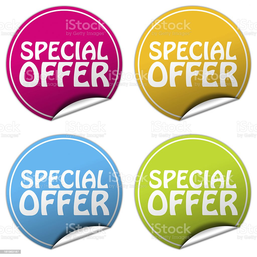 special offer sticker set royalty-free stock photo