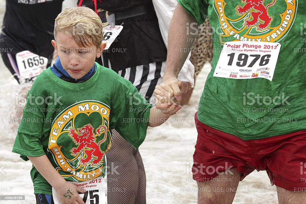 Special Olympics Polar Plunge royalty-free stock photo