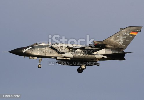 istock Special painted Tornado combat aircraft from the German air force landed at Nörvenich airbase 1198997248