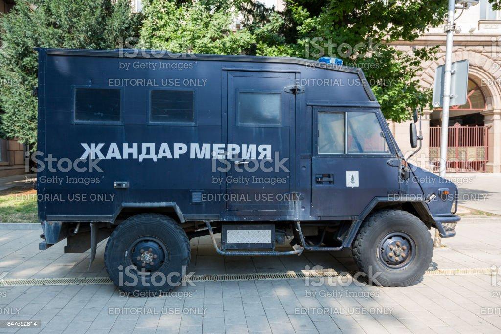 Special police car. Bulgaria. stock photo
