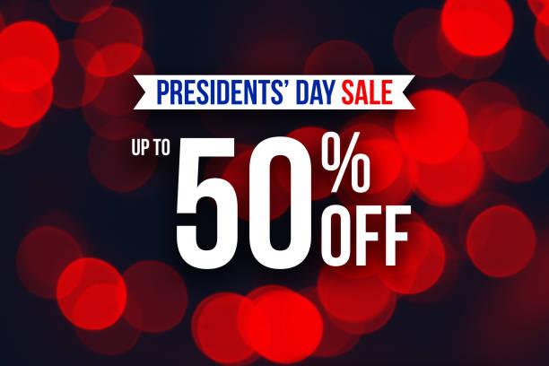 especial dia do presidente venda até 50% off texto - presidents day - fotografias e filmes do acervo