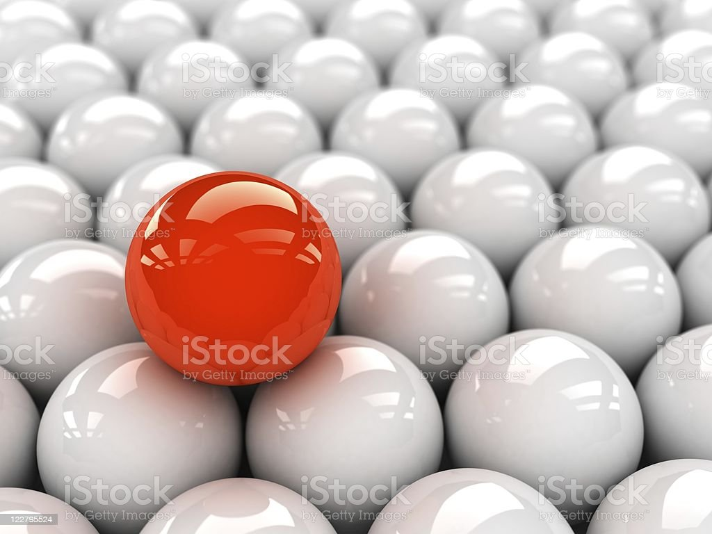 especial red ball stock photo