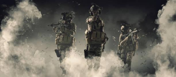 Harekat askeri kavramında özel asker stok fotoğrafı