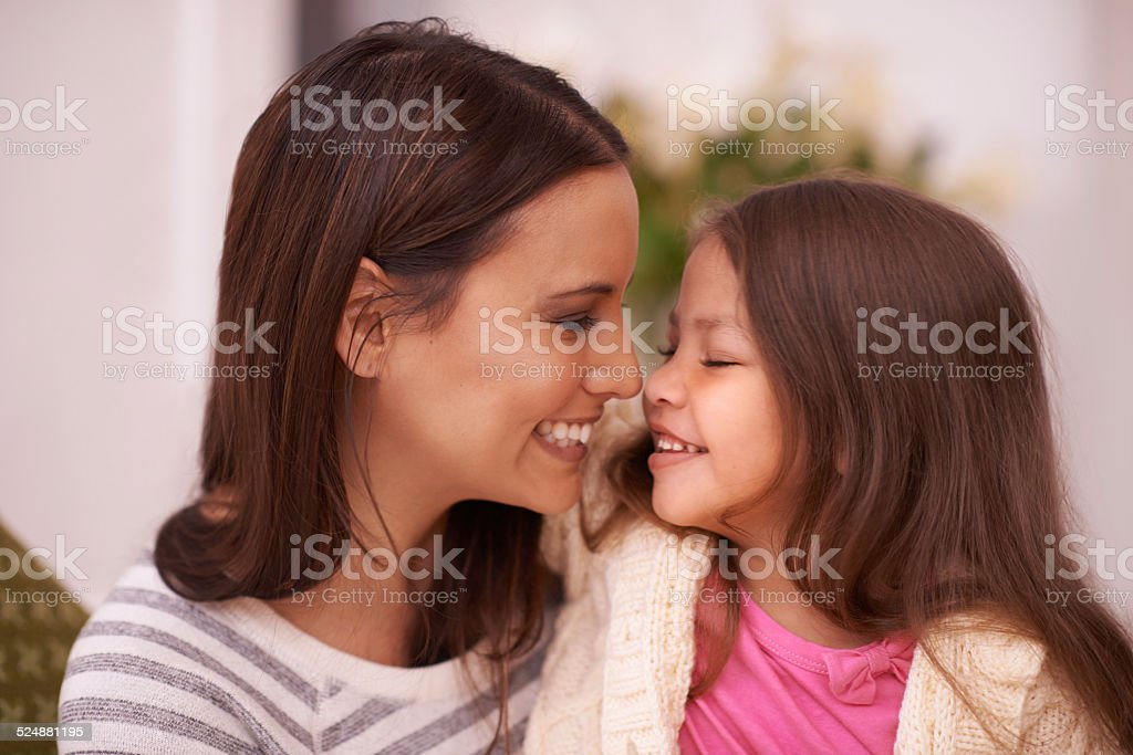 Special time with Mom stock photo