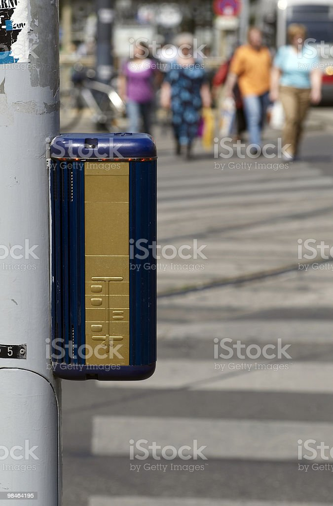 Special traffic light device for invalids royalty-free stock photo