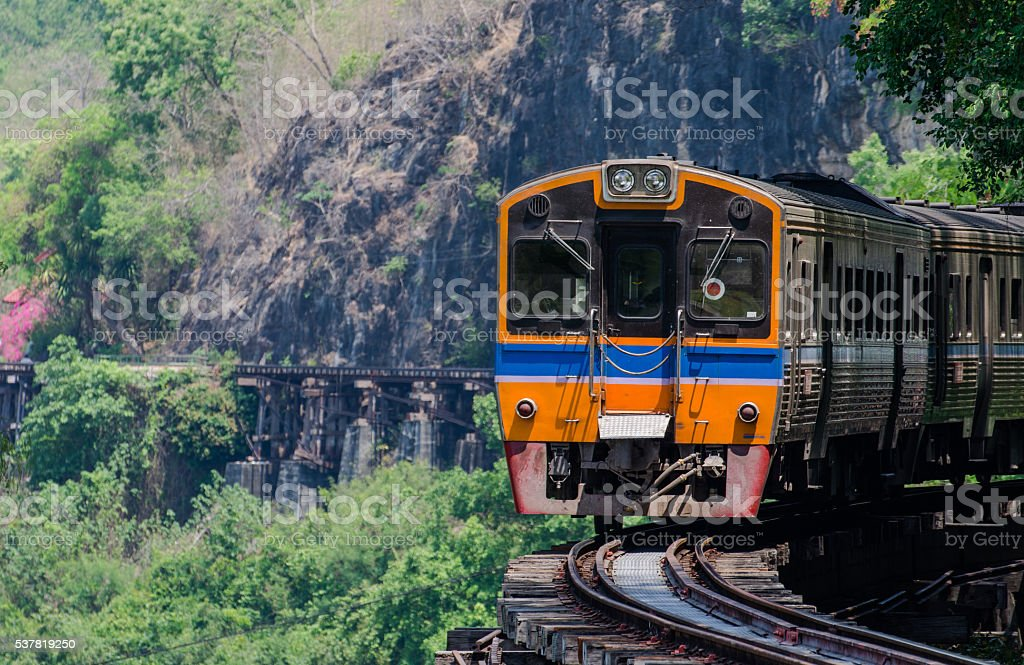 Special trains the Death Railway &  River Kwai stock photo