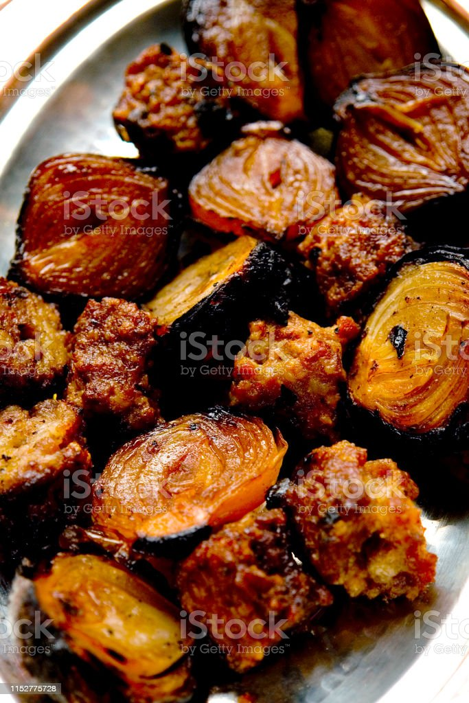 Special Turkish Kebab Plate With Liver And Kidney Stock Photo Download Image Now Istock