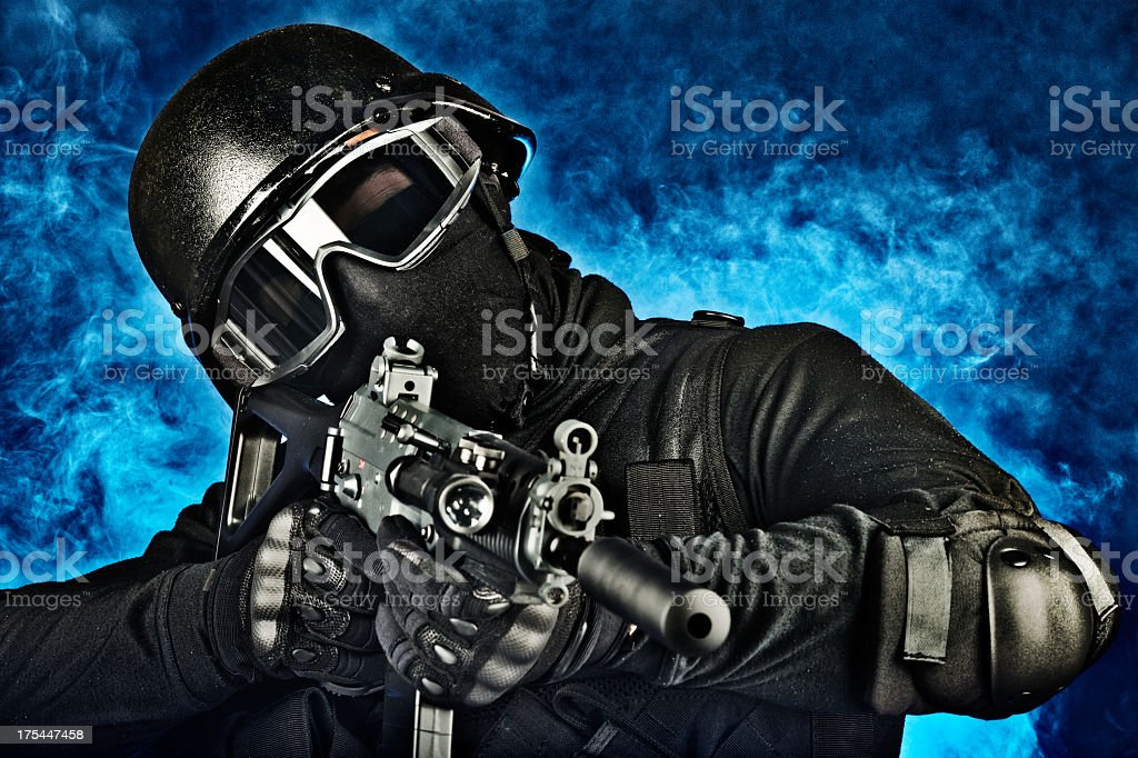 Special Weapons And Tactics royalty-free stock photo
