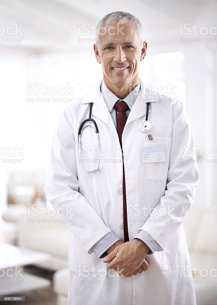 Specialist in saving lives stock photo