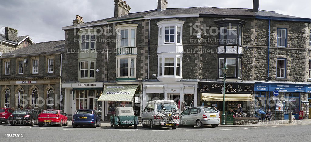 Speciality shops in Welsh market town. royalty-free stock photo
